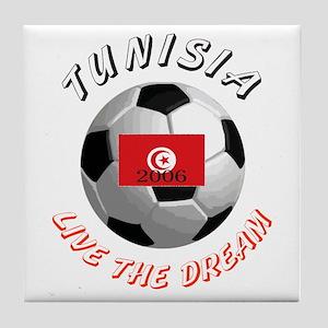 Tunisia world cup Tile Coaster