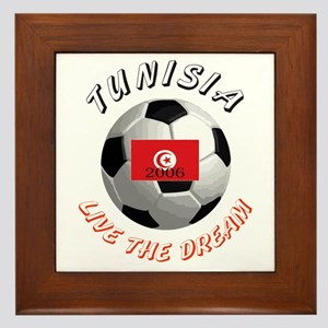 Tunisia world cup Framed Tile