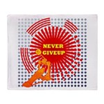 never giveup Throw Blanket