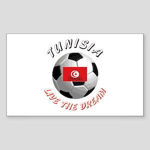 Tunisia world cup Rectangle Sticker