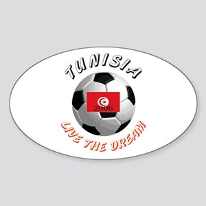 Tunisia world cup Oval Sticker