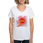 never giveup Women's V-Neck T-Shirt