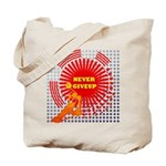 never giveup Tote Bag
