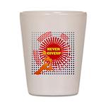 never giveup Shot Glass