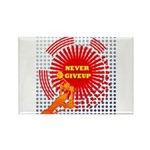 never giveup Rectangle Magnet