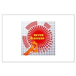 never giveup Large Poster