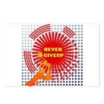 never giveup Postcards (Package of 8)
