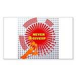 never giveup Sticker (Rectangle)