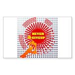 never giveup Sticker (Rectangle 50 pk)