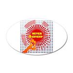never giveup 38.5 x 24.5 Oval Wall Peel