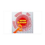 never giveup 38.5 x 24.5 Wall Peel