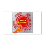 never giveup Car Magnet 20 x 12