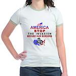 Stop The Invasion Jr. Ringer T-Shirt