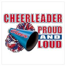 Cheerleader Proud & Loud Poster