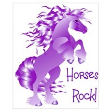 Horses Rock Purple Poster