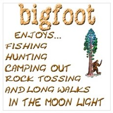 Bigfoot Enjoys . . . Framed Print