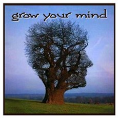 Grow Your Mind Framed Print