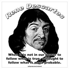 René Descartes 01 Framed Print