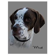 Mud the English Pointer Poster
