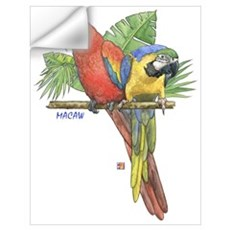 Tropical Macaws Wall Decal