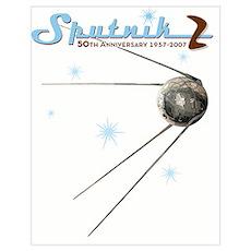 "SPUTNIK 2 ""Atomic"" Poster"