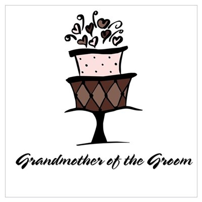 Grandmother of the Groom Pink Cake Canvas Art