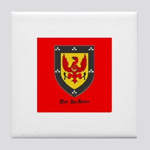 Clan MacAlister Tile Coaster
