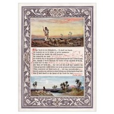THE LORD'S PRAYER PSALM 23 Poster