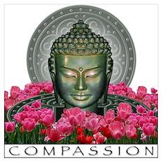 Garden Buddha Poster