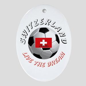 Switzerland world cup Oval Ornament