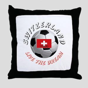 Switzerland world cup Throw Pillow