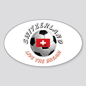 Switzerland world cup Oval Sticker