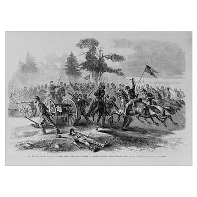 Capture Rebel Guns Civil War Print Poster