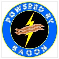 Powered By Bacon Canvas Art