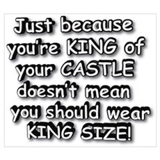 KING OF CASTLE SHOULDN'T WEAR Canvas Art