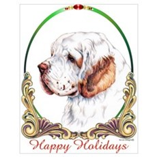 Clumber Spaniel Holiday Poster