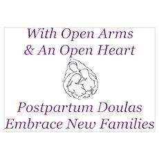 Postpartum Doula Embrace Poster