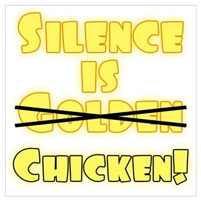 Silence Is Chicken Canvas Art