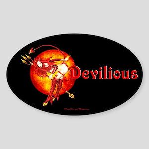 Devilious Oval Sticker