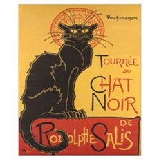 Le Chat Noir Un Framed Print