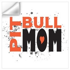 Pit Bull Mom Wall Decal