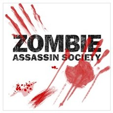 Resident Zombie Assassin Canvas Art