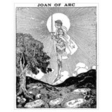 Joan of arc Wrapped Canvas Art