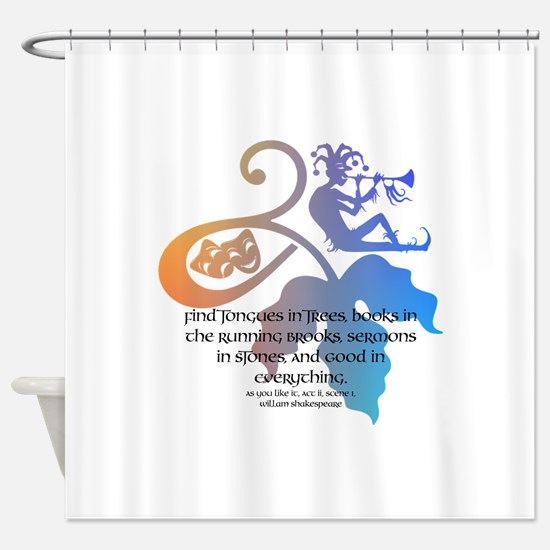 Cute Acting Shower Curtain