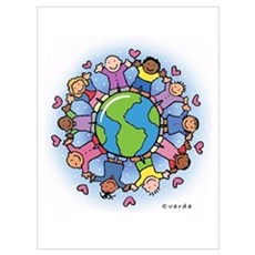 Kids On Earth Wall Art Canvas Art