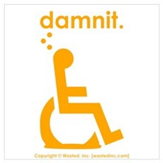 damnit.wheelchair Framed Print
