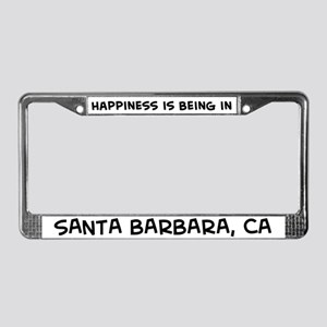 Happiness is Santa Barbara License Plate Frame