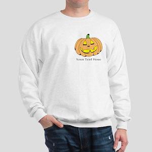 Halloween Pumpkin Custom Text Sweatshirt