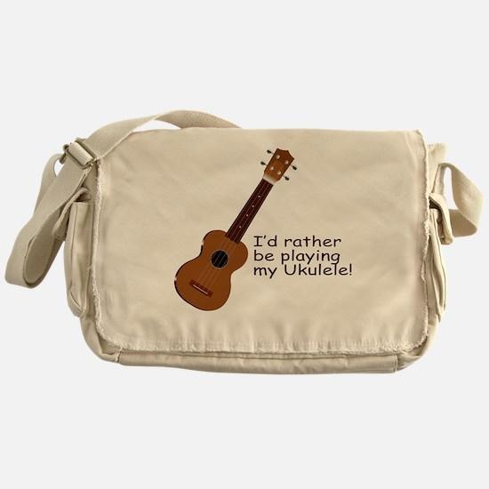Ukulele Design Messenger Bag