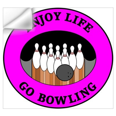 Enjoy Life Go Bowling Wall Decal